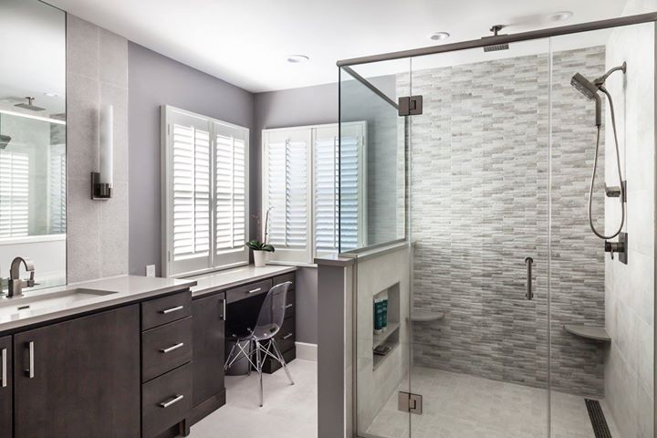 Textural Master Bath - West Orange, NJ