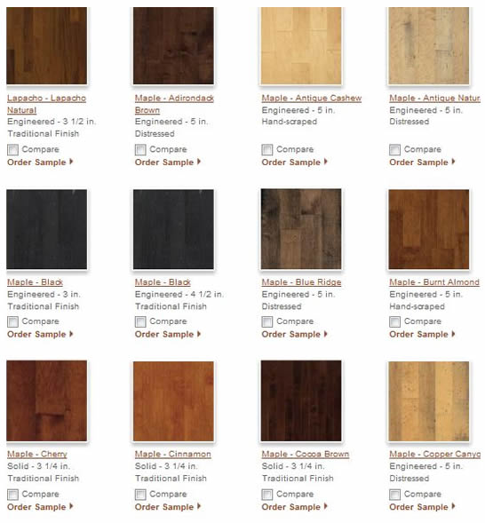 Hardwood Flooring Wood Samples 1